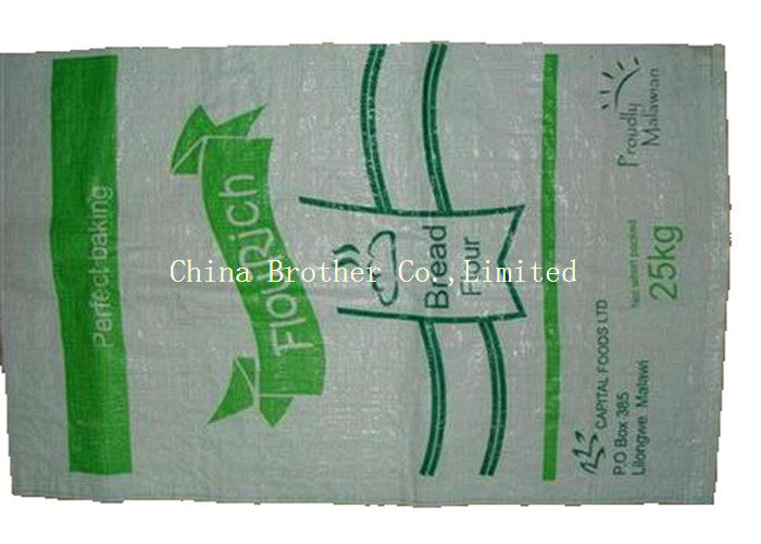 Recyclable Heavy Duty 	PP Woven Sack Bags Non - Leakage For Flour Packing